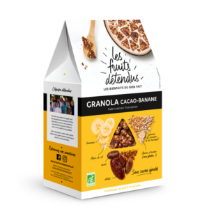 Granola Chocolat Banane - Pack 3D - Granola bio
