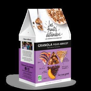 Granola Fruits Figue Abricot - Pack 3D - Granola bio