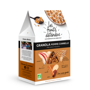 Granola Cannelle Pomme - Pack 3D - Granola fruits bio