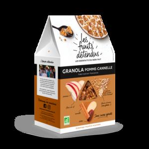 Granola Cannelle Pomme - Pack 3D - Granola fruits bio