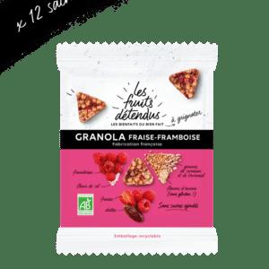 Lot de Snack - Snack Granola Fraise Framboise - Granola fruits bio