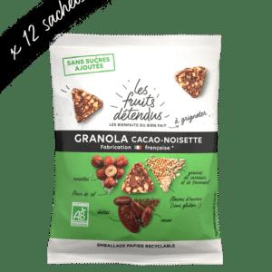 Snack granola chocolat noisette - granola bio