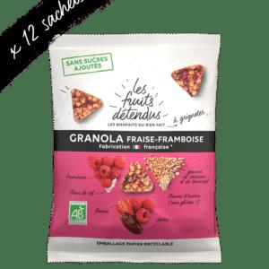 Snack granola fraise framboise - granola bio