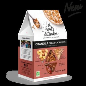 Granola Cacahuete Cacao - Pack 3D granola bio