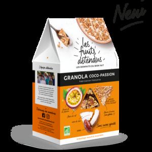 Granola Coco Passion - Pack granola bio noix de coco fruit de la passion
