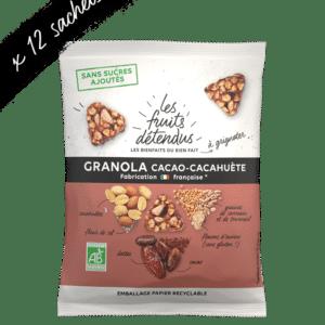 Snack granola cacahuete chocolat - granola bio