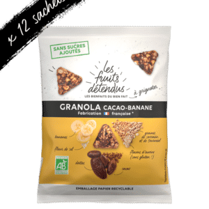Snack granola cacao banane - granola bio