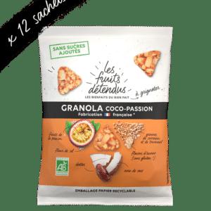 Snack granola coco fruit de la passion granola bio