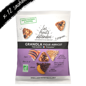 Snack granola figue abricot - granola bio